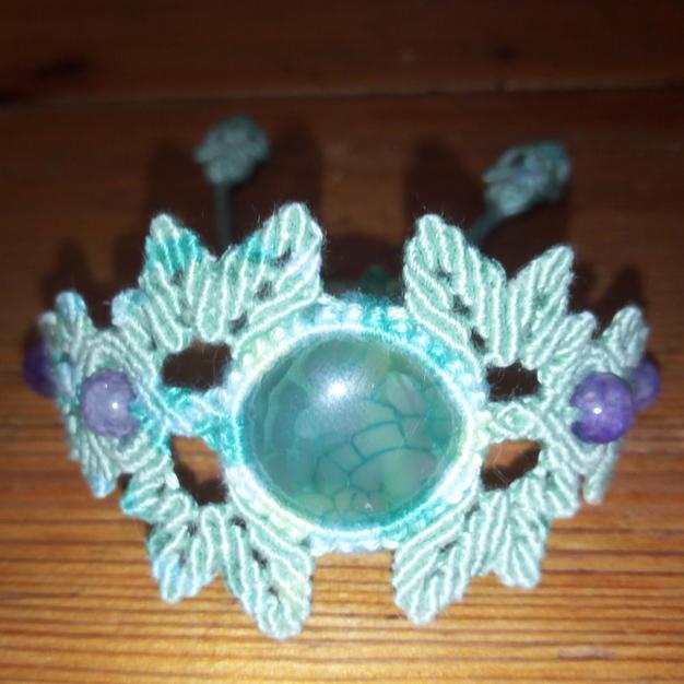 Bracelet d'Agate teintée