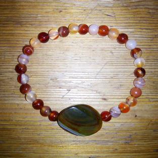 Bracelet Agates nautrelles 19€