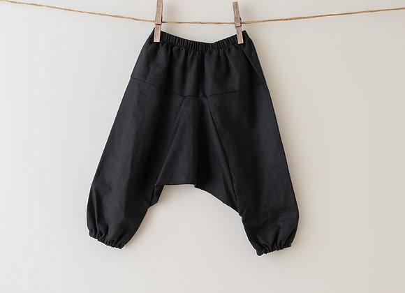 BAYA - HAREM PANTS - BLACK