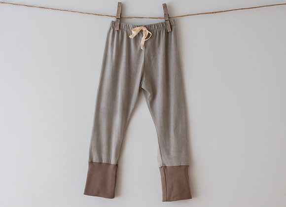 NONO PANTS - Grey | Brown Ankle
