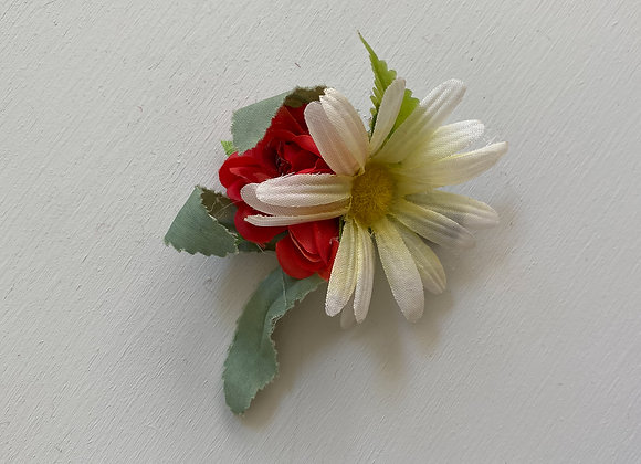 FLOWER HAIR BROOCH
