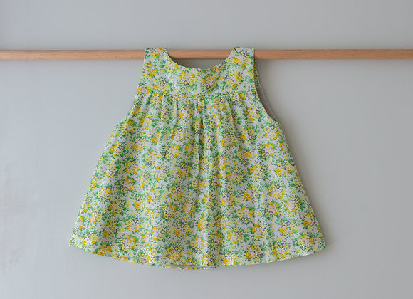 SUNDAY TUNIC TOP - FLORAL YELLOW & GREEN