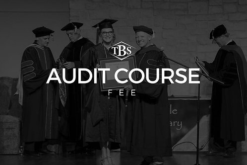Audit Course Fee: PRA 501 - Prayer& Worship I