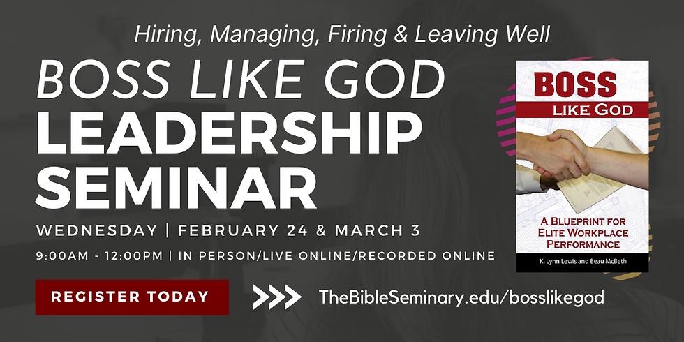 Boss Like God Seminar