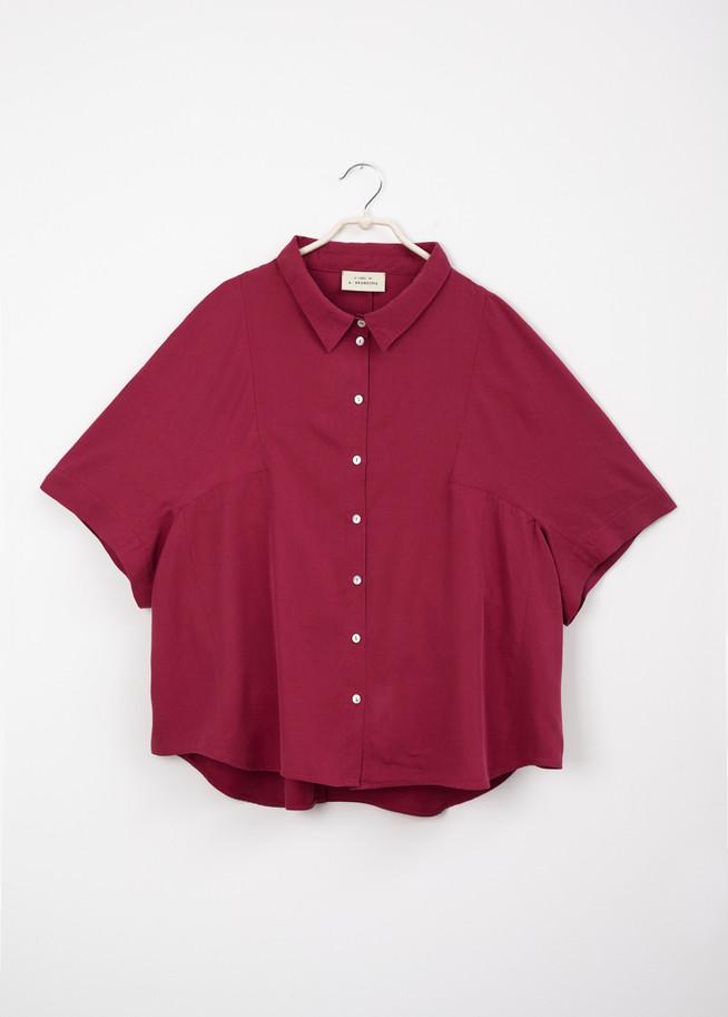 A • Blouse _an angle sleeve - raspberry 1.jpg