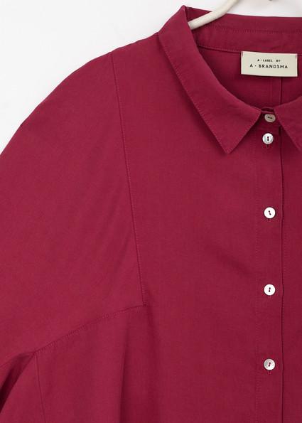 A • Blouse _an angle sleeve - raspberry 2.jpg