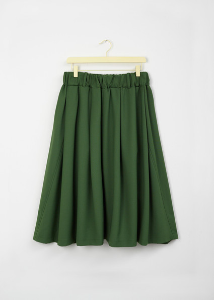 A • Wide Skirt _a twisted seam - green - front.jpg