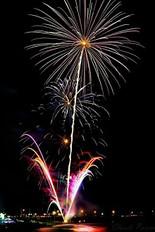 Un feux d'artifice unique au Festi-plage de Cap d'Espoir en 2016!