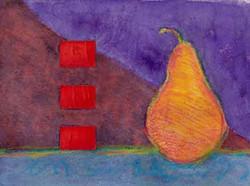 Orange on Violet and Burgundy
