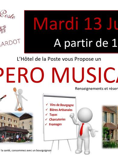 Apéro Musical le 13 Juillet 2021