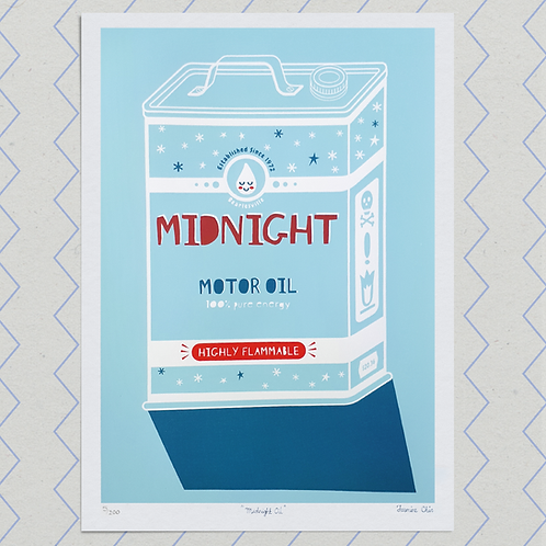 Midnight Oil Screenprint