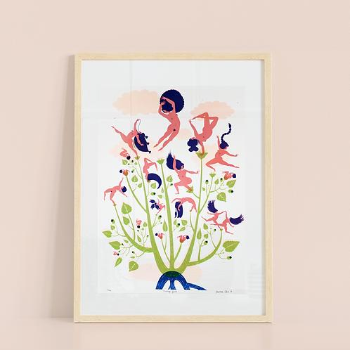Botanical Series: Dancing Gurls Screenprint