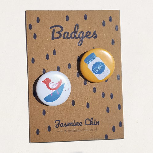 Hansel & Gretel's Crumbs Itty Bitty Badges