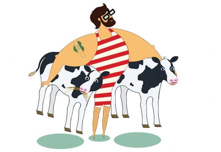 Tom Carries Cows