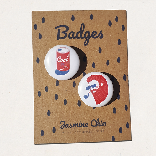 Nude Dude Itty Bitty Badges