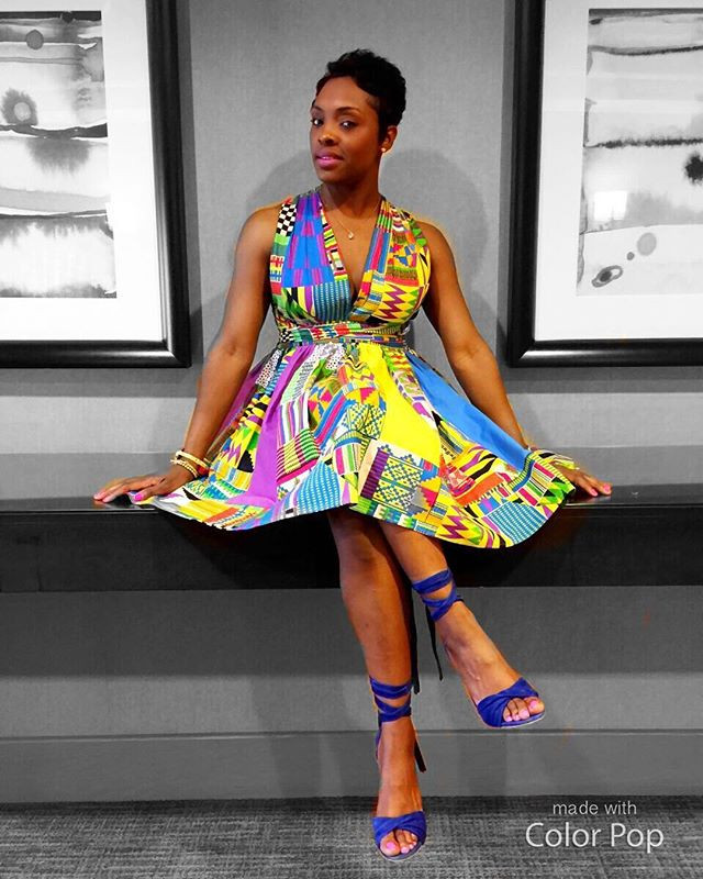 DIY Ankara dress inspired by you tube