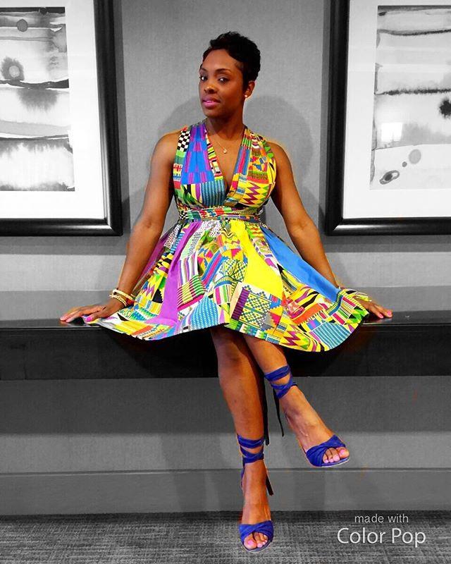 DIY Ankara dress inspired by you tube