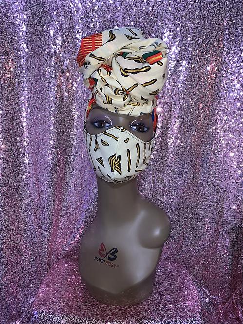 Queen Head wrap w/Reversible Mask