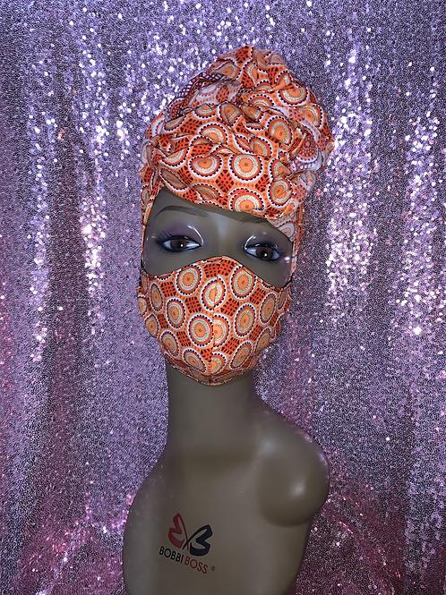 Beauty Head wrap w/Reversible Mask