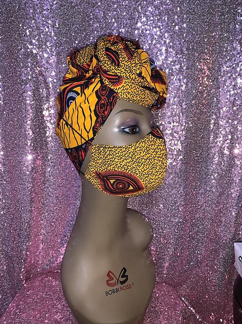 Zendaya Head wrap w/Reversible Mask
