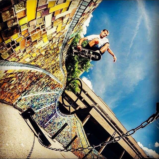 Riverwalk Mosaic Skateboarder