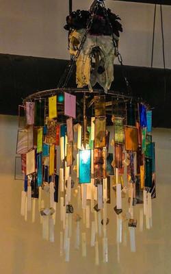lighting skull chandelier