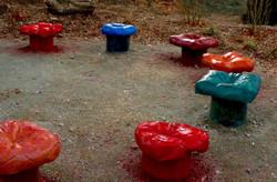 Story Garden Concrete Pillow Seats