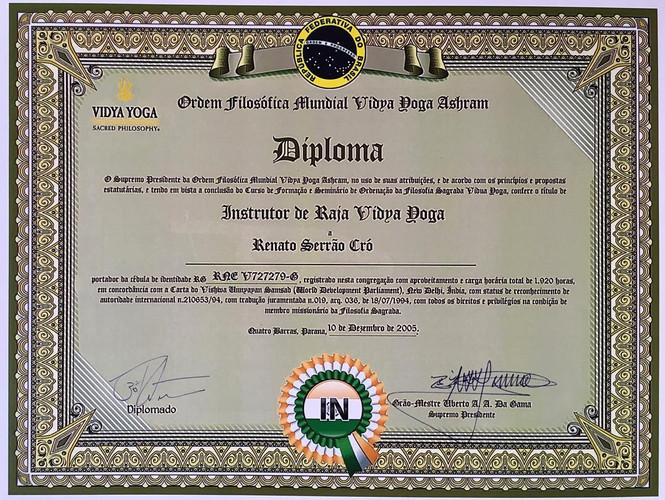 Diploma Instrutor Pavan