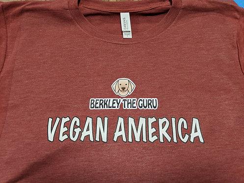 """Vegan America"" Unisex Short Sleeve T-Shirt"