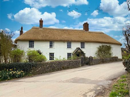 Latest thatch completed, Chawleigh, Devon