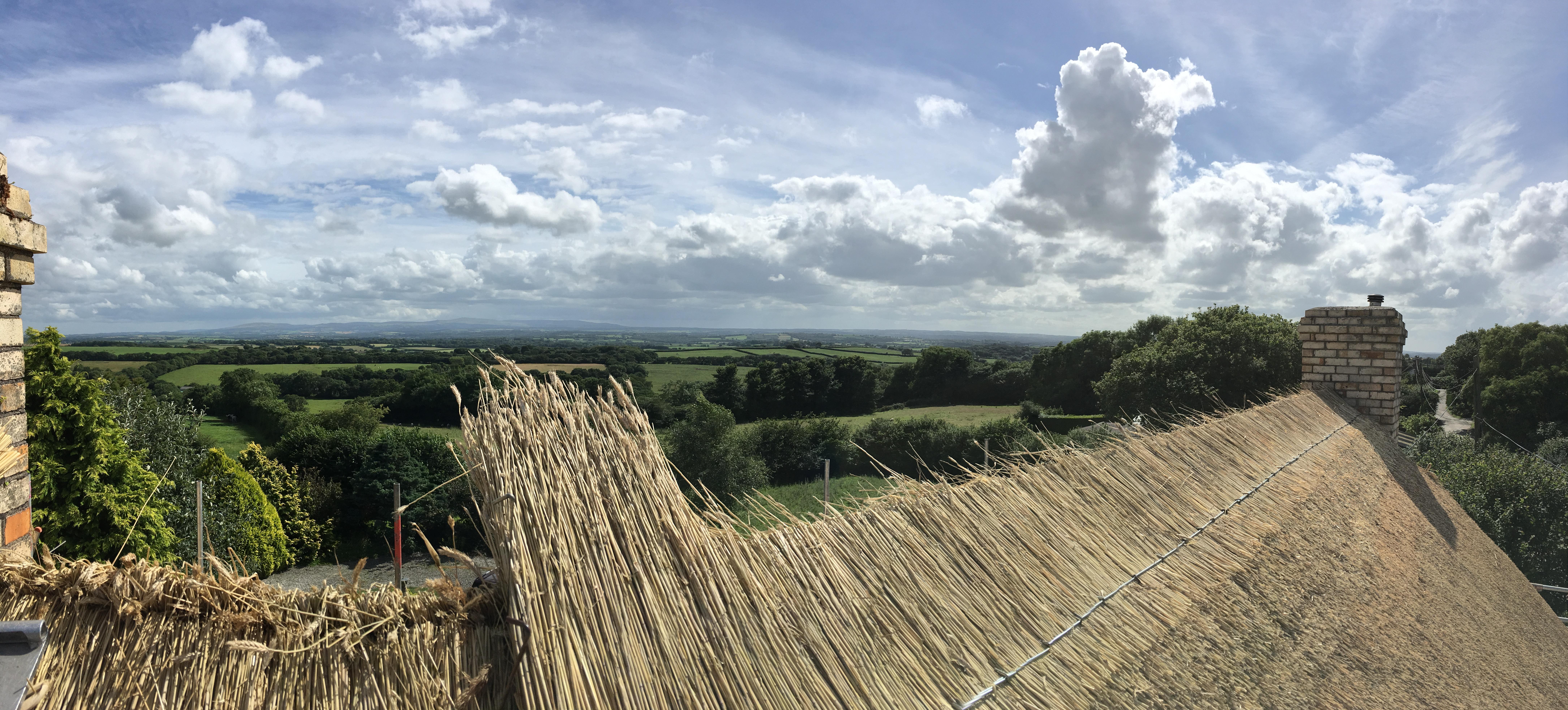 Ridge laying, Winkleigh, Devon