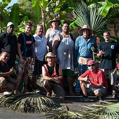 Natural thatching team, Maui, Hawaii.
