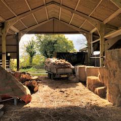 Thatching barn, CHulmleigh, Devon