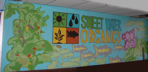 Lower level mural, Sweet Water Organics