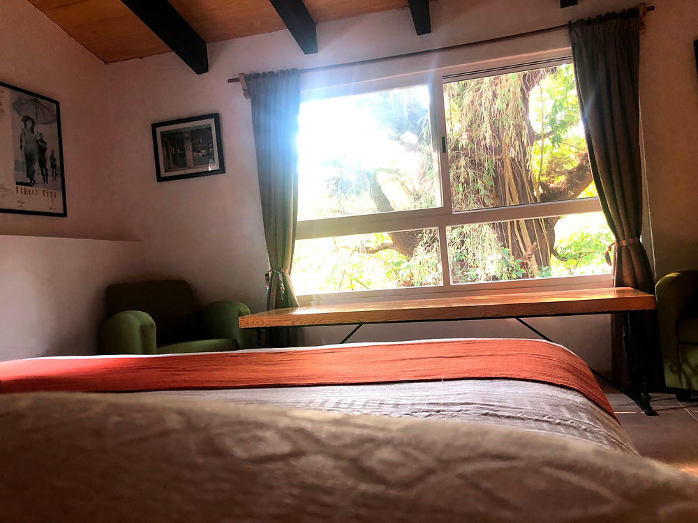 Habitación cama king size cabaña tepoztlan