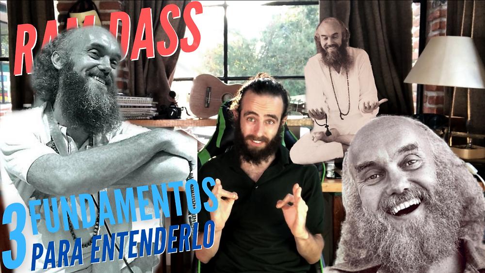 Baba Ram Dass en español convirtiéndonos en nadie