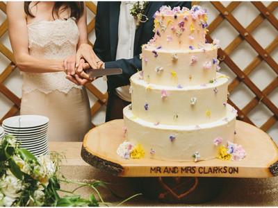 Top wedding cake! Yurt wedding.