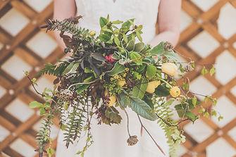wedding bouquet in wedding yurts. Herefordshie flowers from wild magnolia