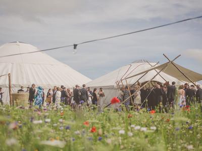 Wedding Yurt and canopy, Herefordshire Weddings, Kinnersley Castle Weddings