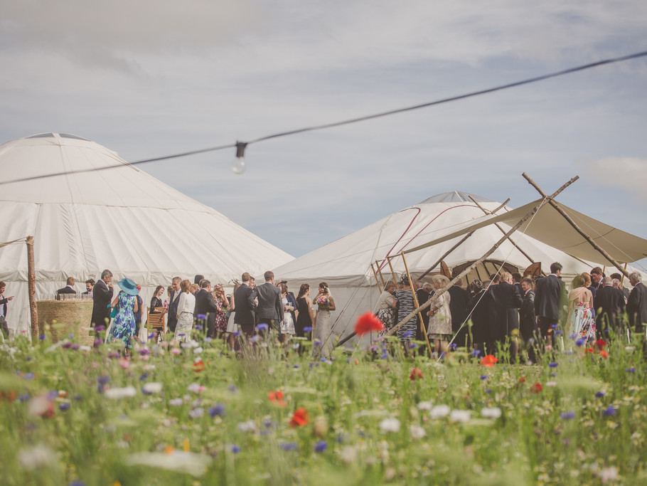 Wedding Yurt and canopy, Herefordshire Weddings, Kinnersley Castle Weddings