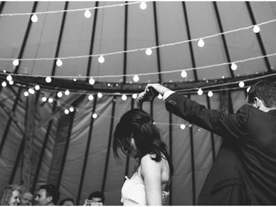 First dance in the Wedding Yurt