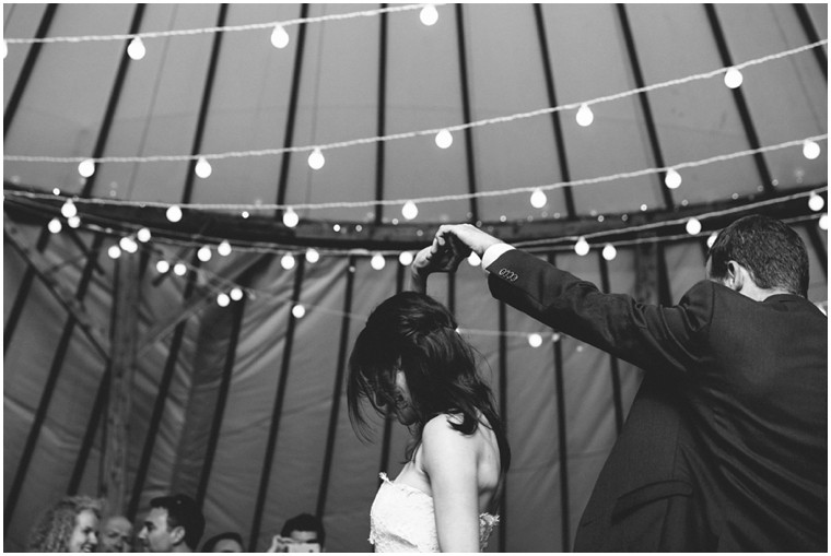 First dance in the Wedding Yurt