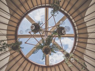 Copper botanical yurt wedding inspiration