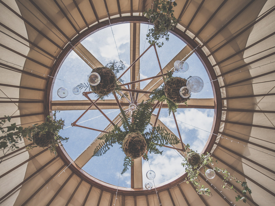 Copper botanical yurt wedding inspiration