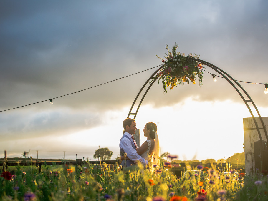Castle Yurts wedding couple