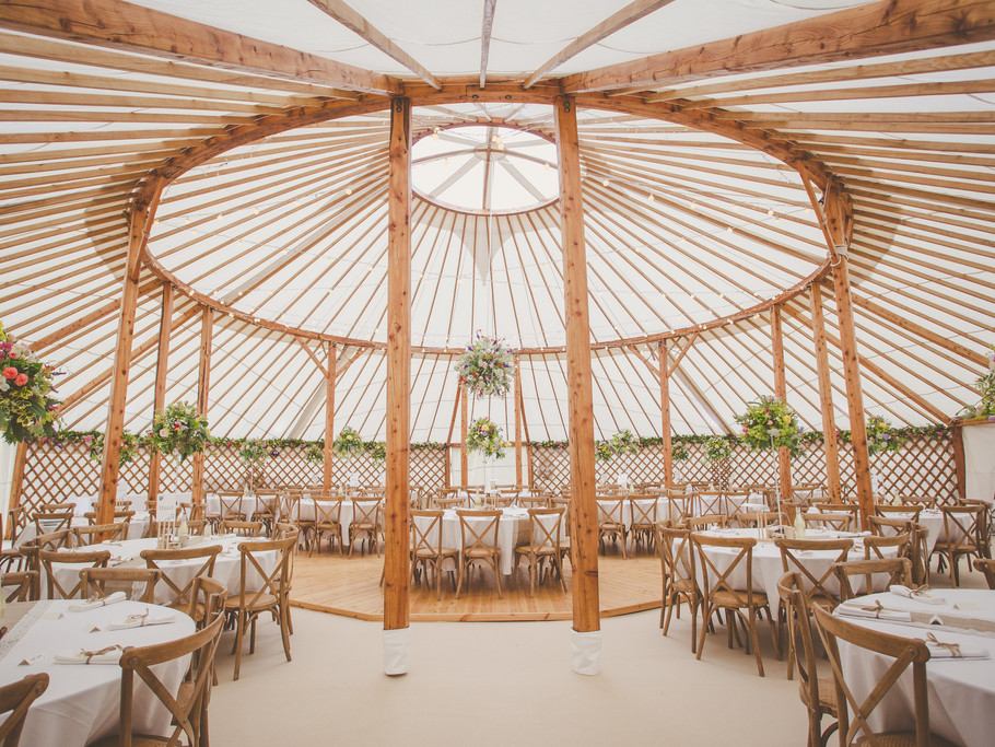 60ft wedding yurt, Kinnersley Castle Weddings