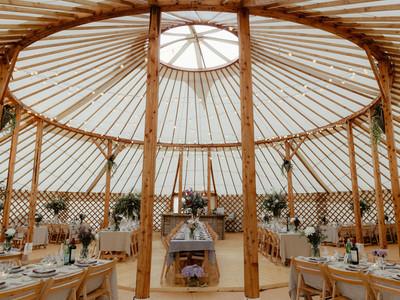 60ft wedding yurt interior