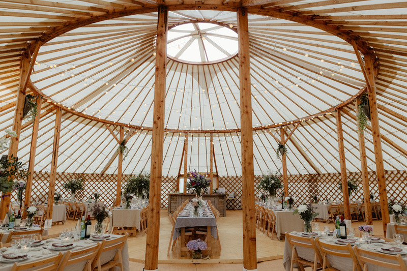 60ft wedding yurt interior