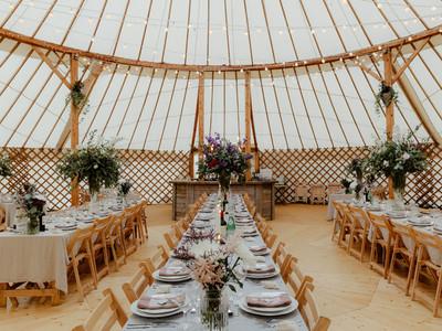 Wedding yurt all ready to go.