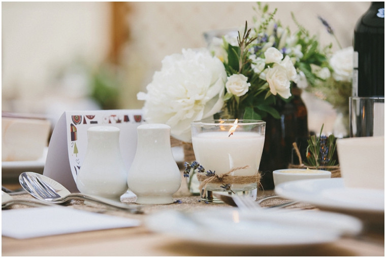 Delicate table arrangements.